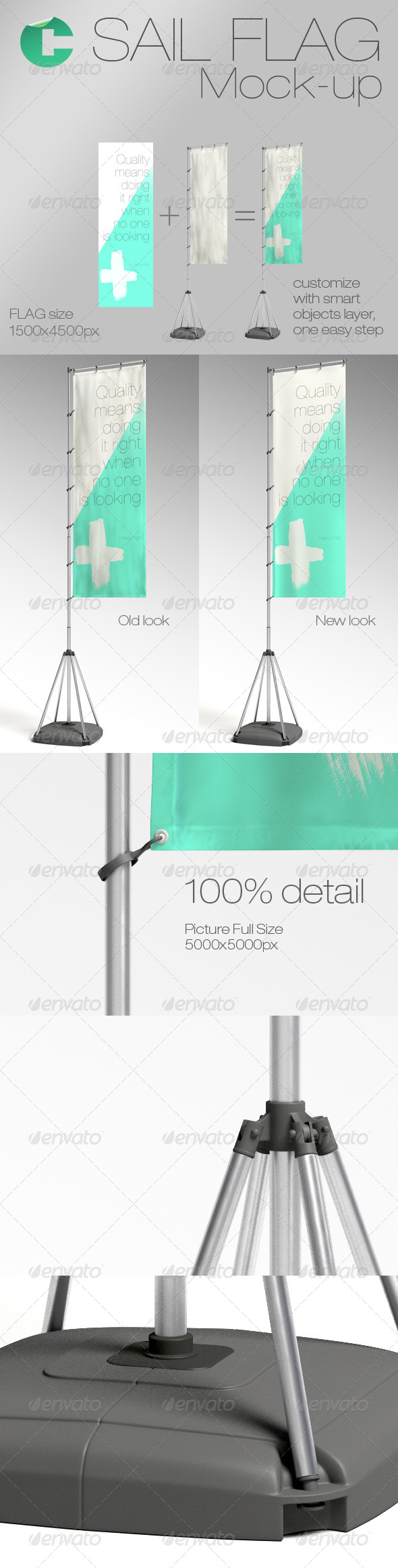 GraphicRiver Sail Flag Mock-up 5969790
