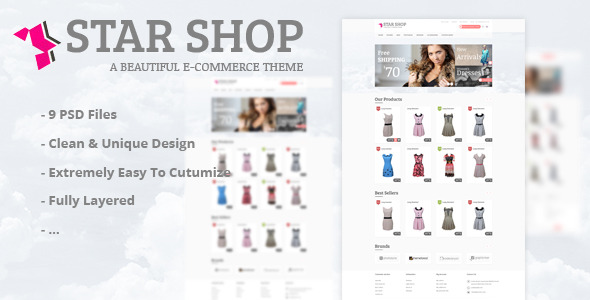 ThemeForest - Star Shop - PSD Template 5969949 - Free Download