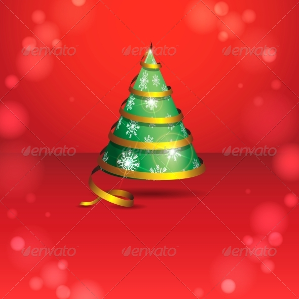 GraphicRiver Stylized Ribbon Christmas Tree 5969969
