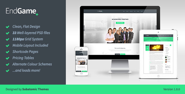 EndGame - The Multi-purpose PSD Template - PSD Templates