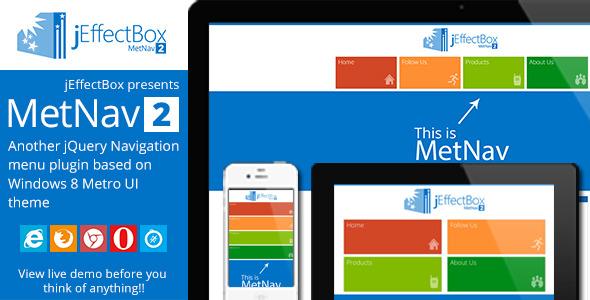 MetNav 2- Another jQuery Metro UI navigation menu