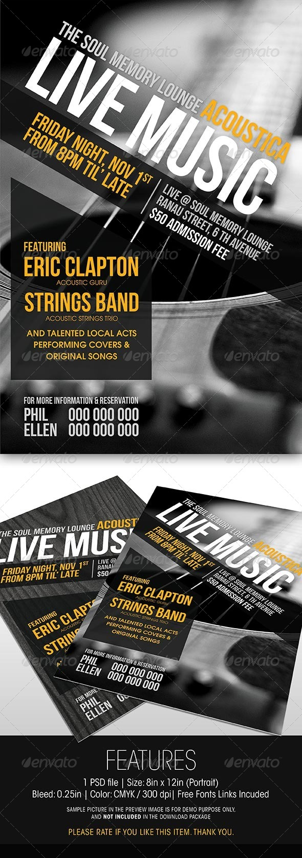 GraphicRiver Acoustic Night Promotional Flyer 5970227