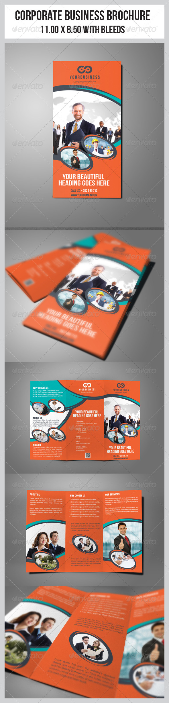 GraphicRiver Multipurpose Business Tri-Fold Template 5970356