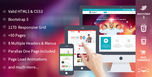 ThemeForest Mukam Limitless Multipurpose Responsive Template 5970511
