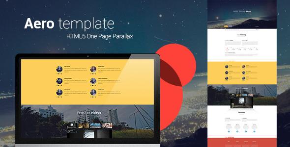 Aero HTML5 one page creative parallax