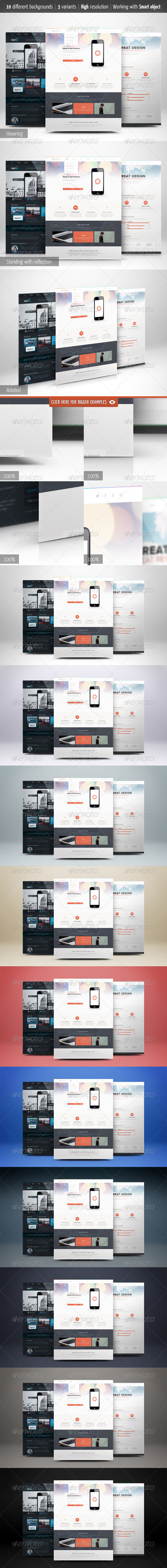 GraphicRiver Web Page Presentation Mockup with Studio Backdrops 5946642