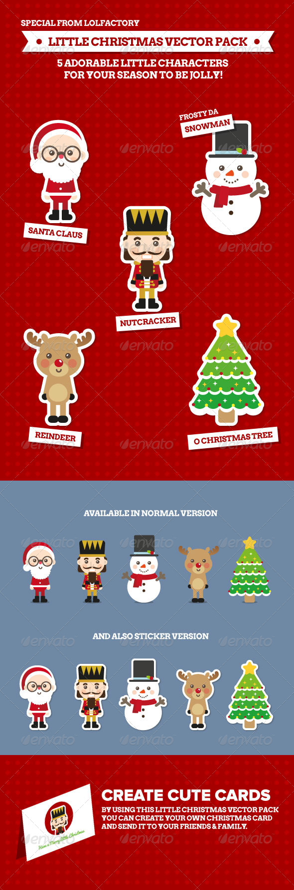 GraphicRiver Little Christmas Character Vector Pack 5970954