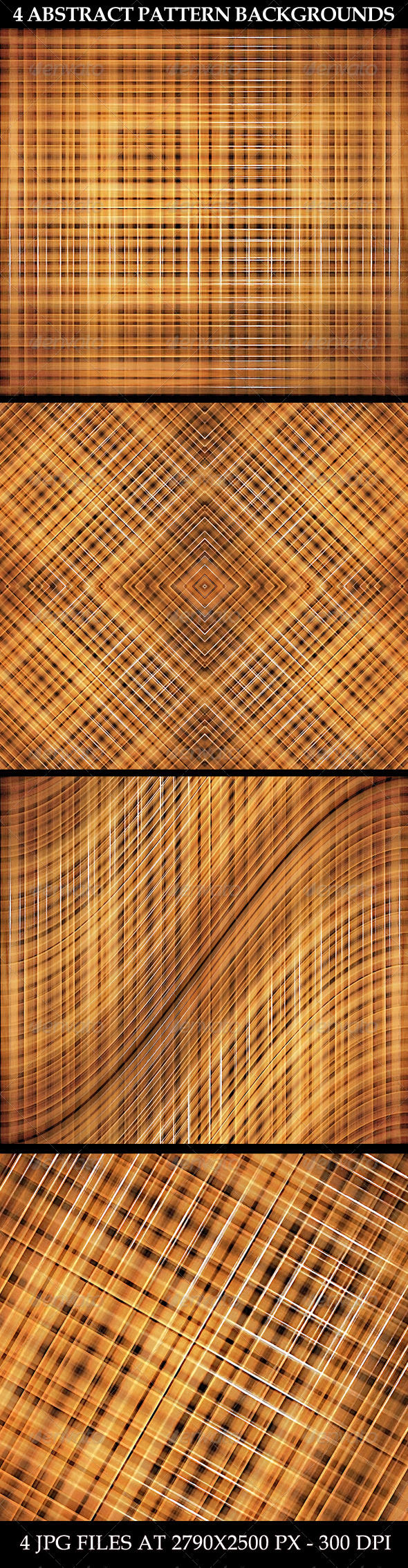 4 Abstract Pattern Backgrounds