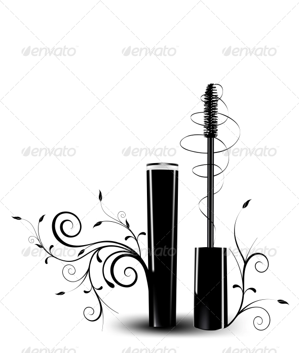 GraphicRiver Ink for Eyelashes with Ornament 5971106