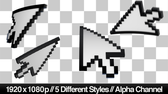 3D Mouse Pointer Cursor 5 Styles
