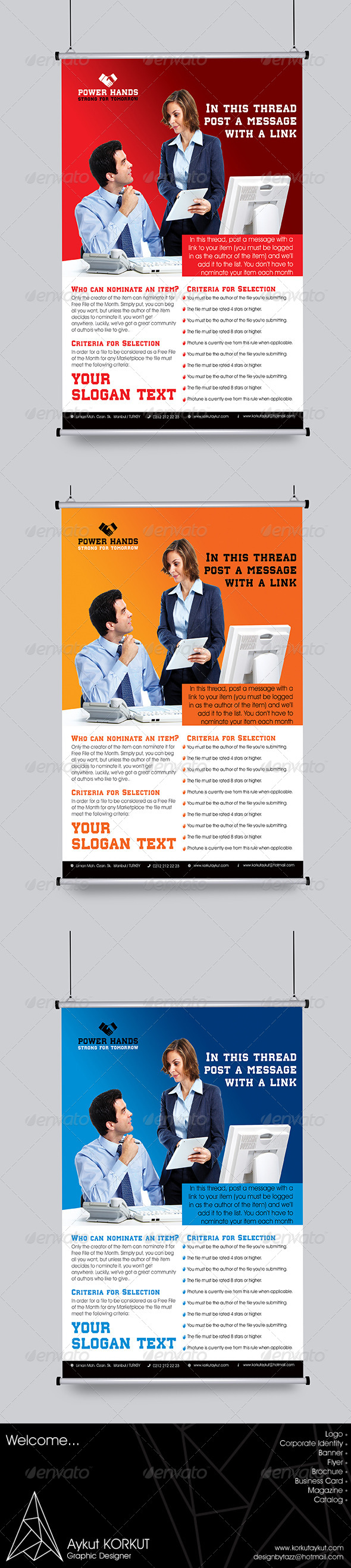 GraphicRiver Power Hands Flyer Template 5971410