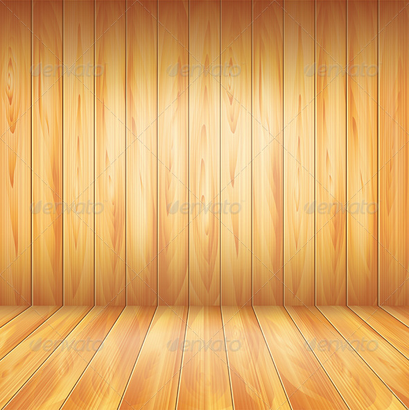 GraphicRiver Wood Wall and Floor Vector Background 5971425