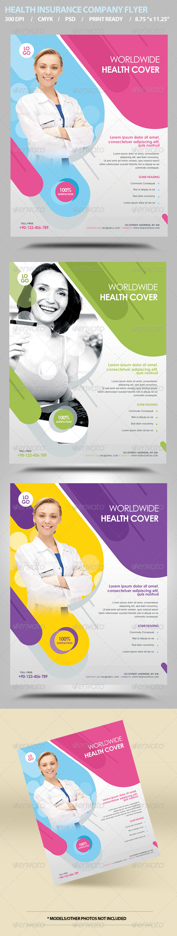 GraphicRiver Health Insurance Flyer Template 5971612