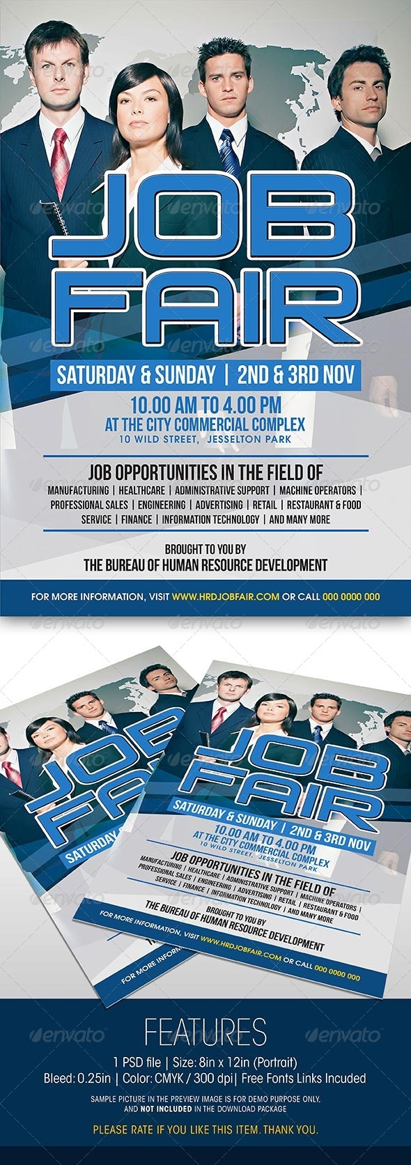 GraphicRiver Job Fair Event Flyer 5971661