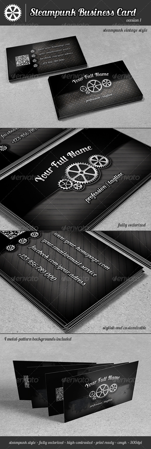 GraphicRiver Steampunk Business Card 5971795