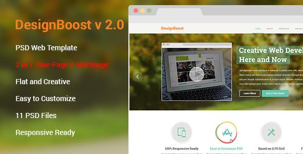 DesignBoost PSD Web Template 2.0