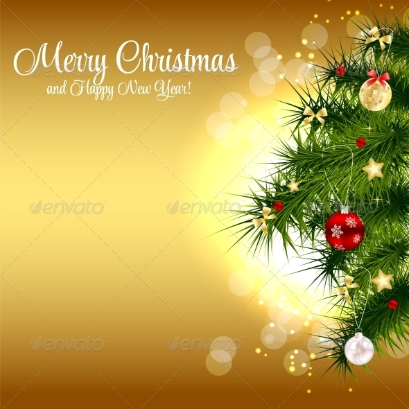 GraphicRiver Abstract Christmas and New Year Background 5972005