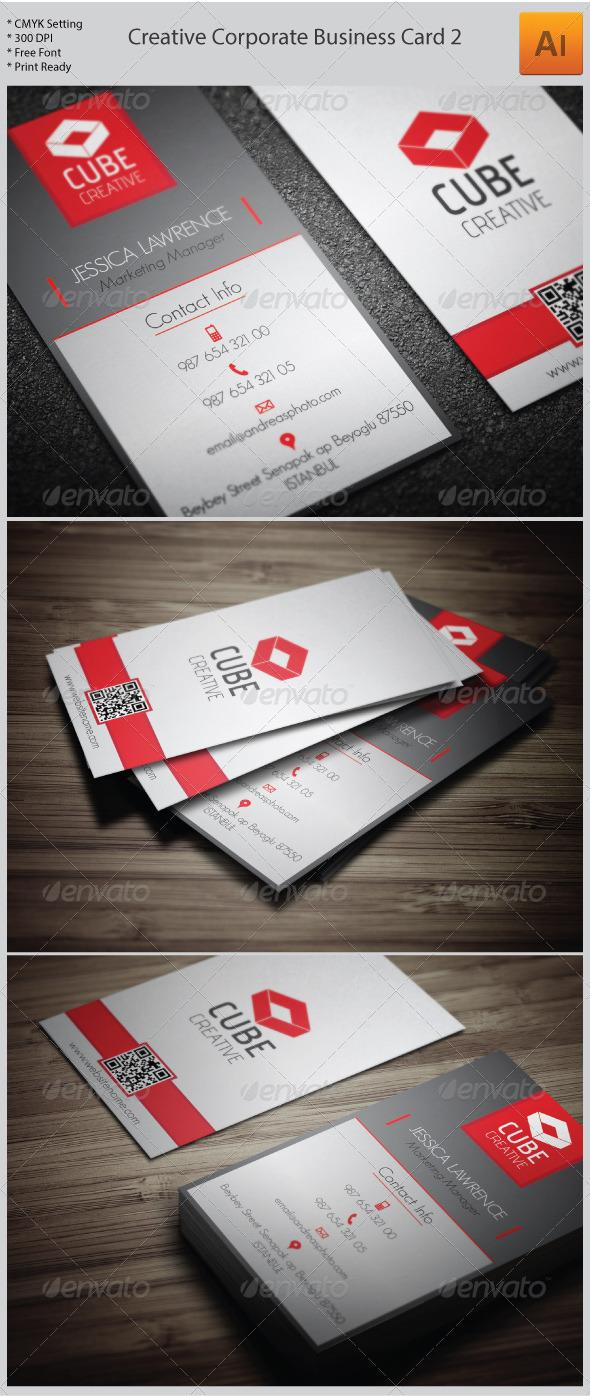 Creative Corporate Business Card 2