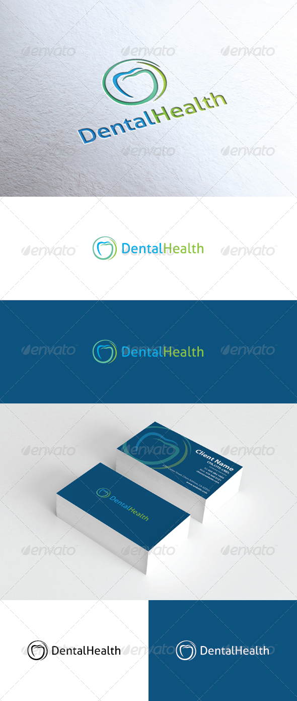 Dental Health Logo - Vector Abstract