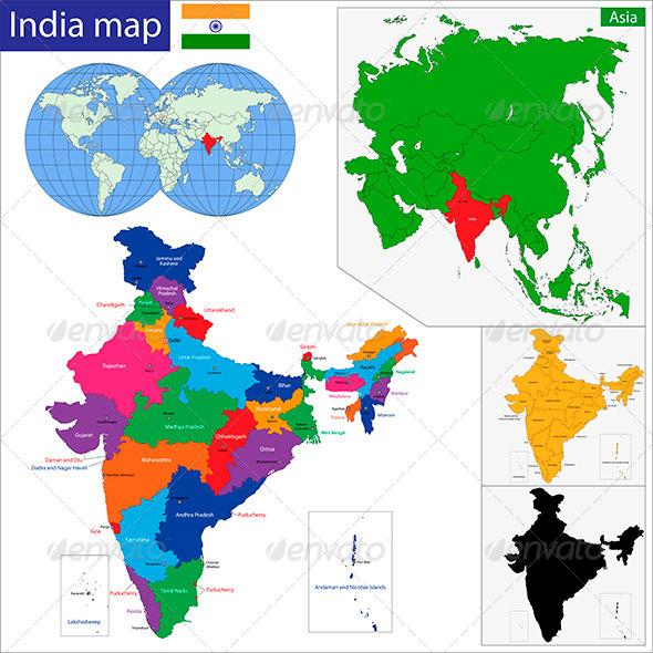 GraphicRiver India Map 5972119