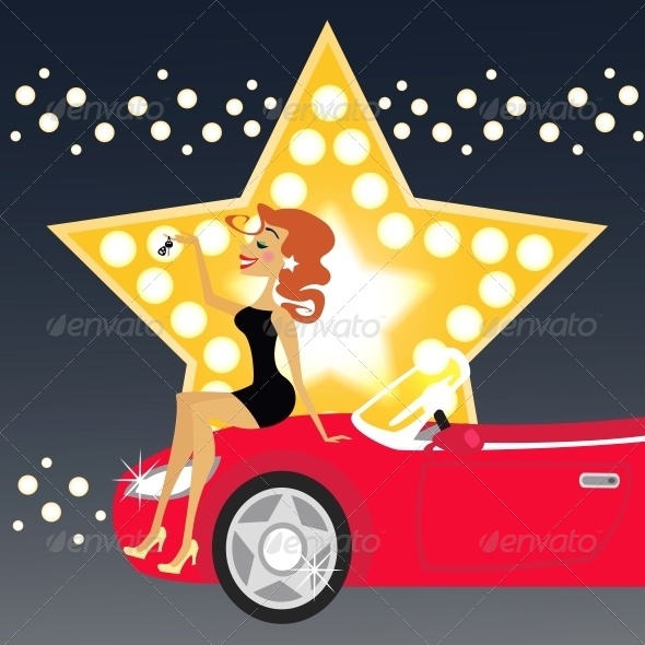GraphicRiver Girl and Car 5972136