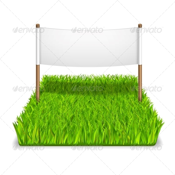 GraphicRiver Green Grass Sign 5972165
