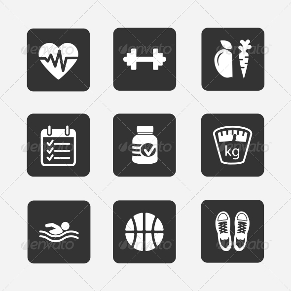 GraphicRiver Fitness Icons 5972252