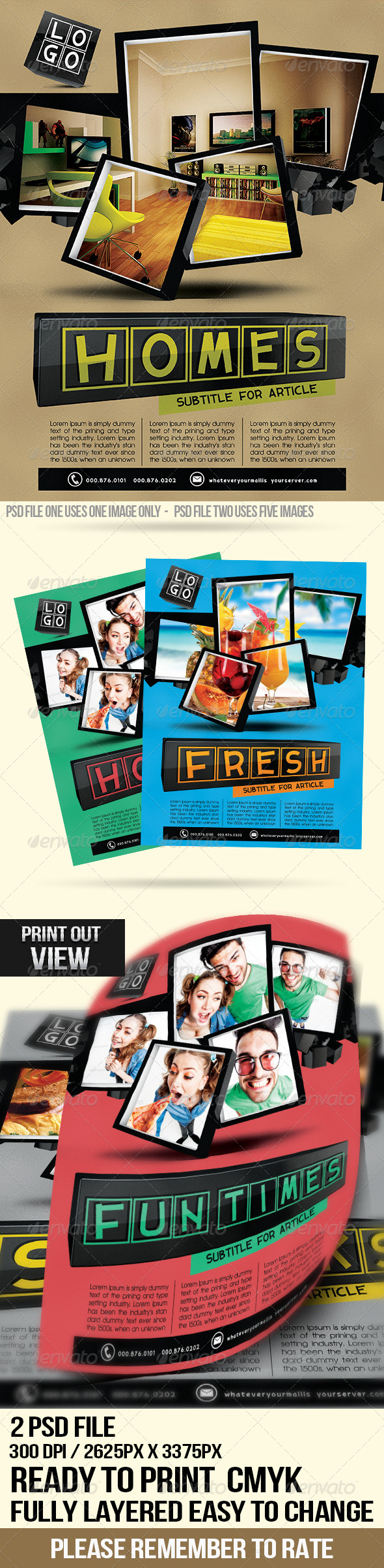GraphicRiver Clean Cubes Multipurpose Flyer 4735077