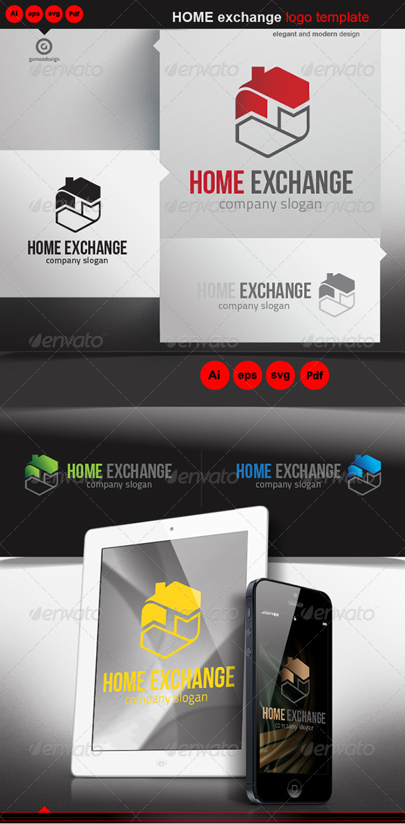 Home Exchange - Logo Templates