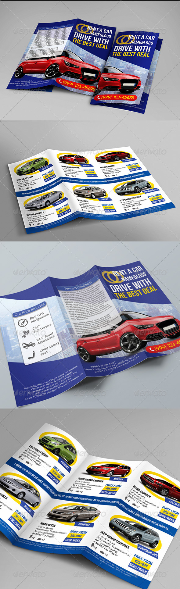 Rent a Car Trifold