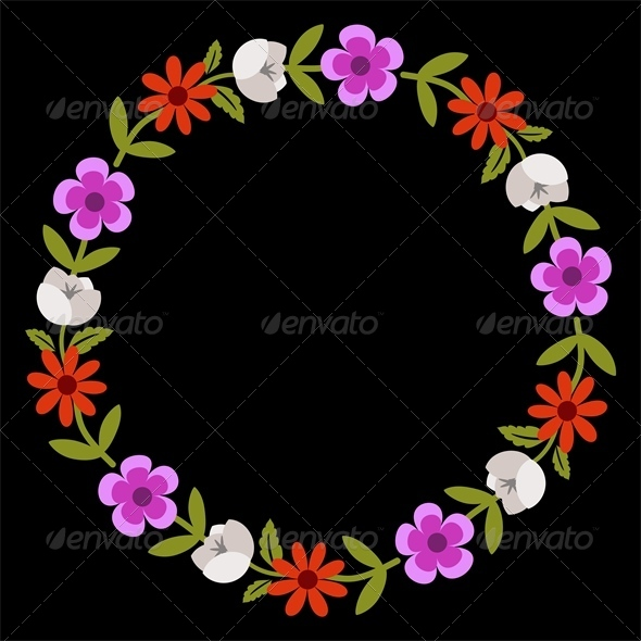 GraphicRiver Floral Wreath 5972497