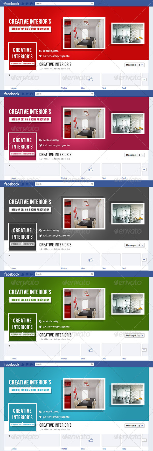 Interior Facebook Timeline Cover