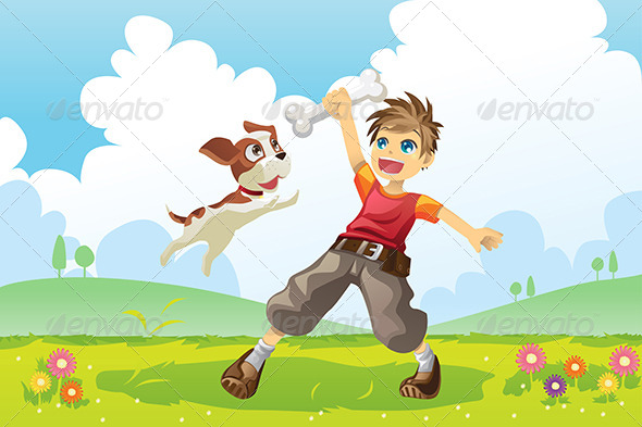 GraphicRiver Boy and Dog 5972859