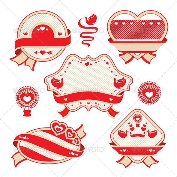 GraphicRiver Valentine s Day Decorative Labels 5972873
