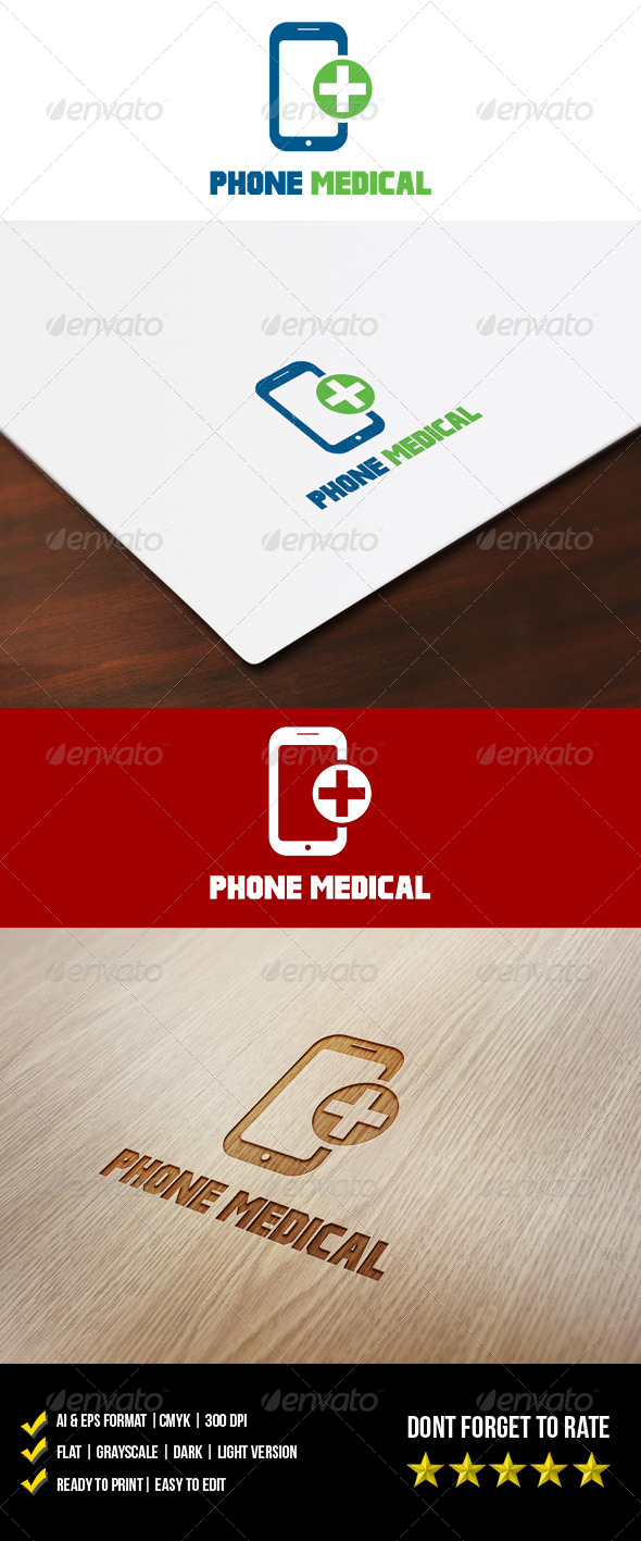 GraphicRiver Phone Medical Logo 5962273