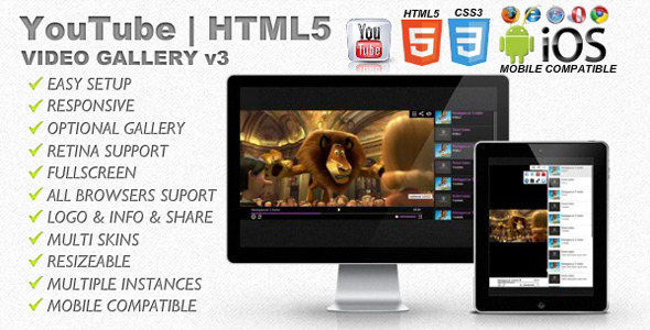CodeCanyon Elegant YouTube HTML5 Responsive Video Player 5951886