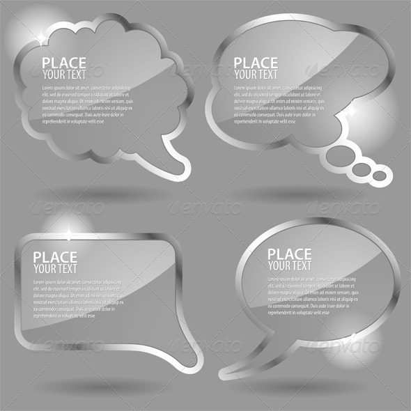 GraphicRiver Glass Speech Bubbles 623952