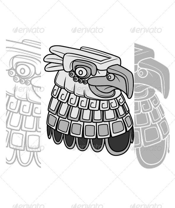 GraphicRiver Tribal Eagle Head 5942106