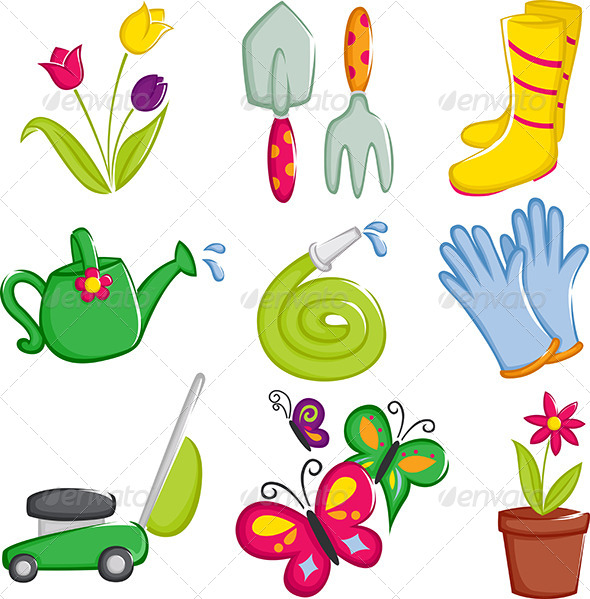 GraphicRiver Spring Gardening Icons 5973587