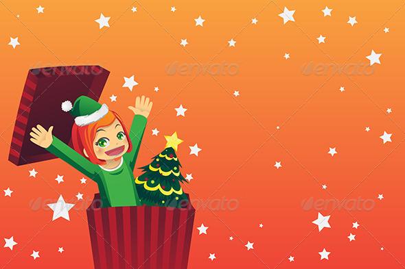 GraphicRiver Christmas Girl 5973599