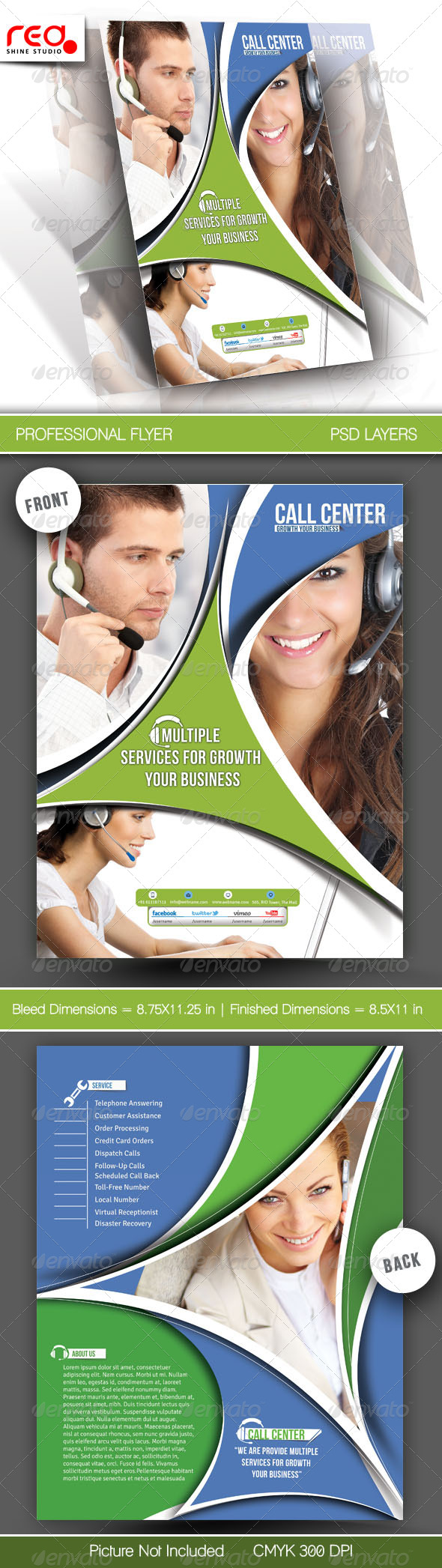 Customer Support Flyer & Poster Template 2