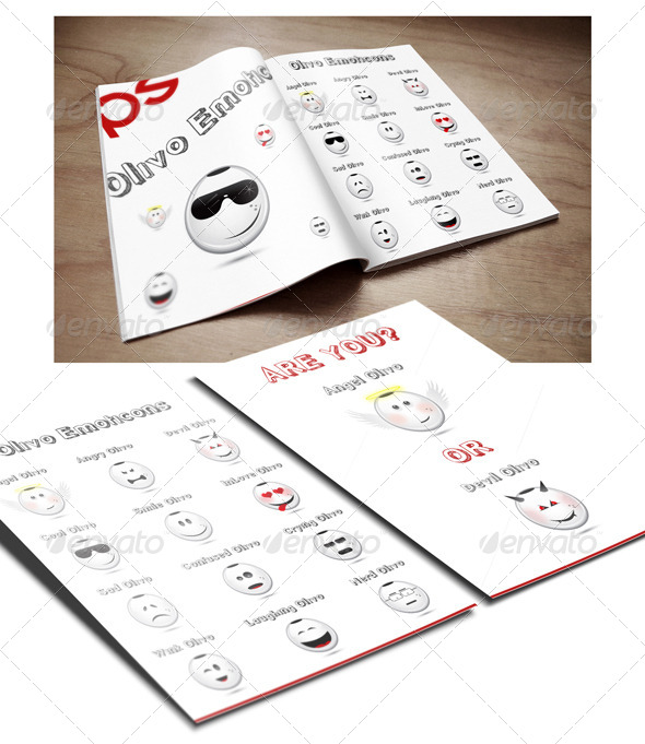 GraphicRiver 12 Olivo Emoticons Set 5934064