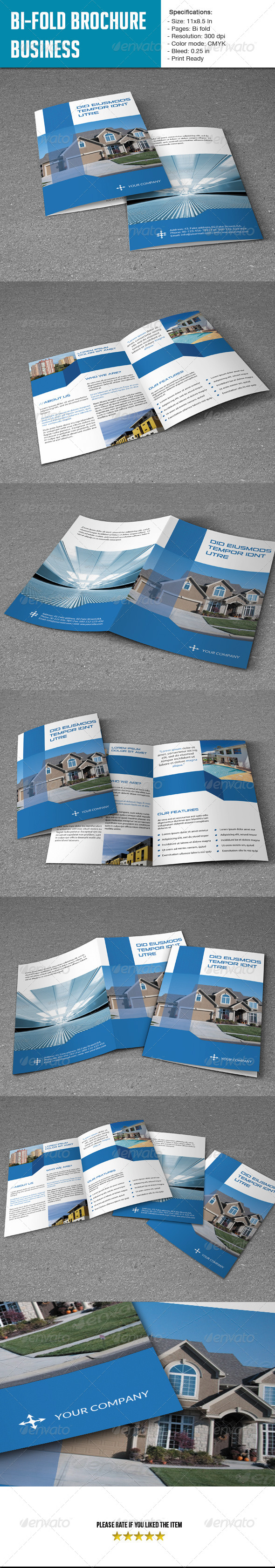 GraphicRiver Bifold Brochure for Real Estate Co 5973630