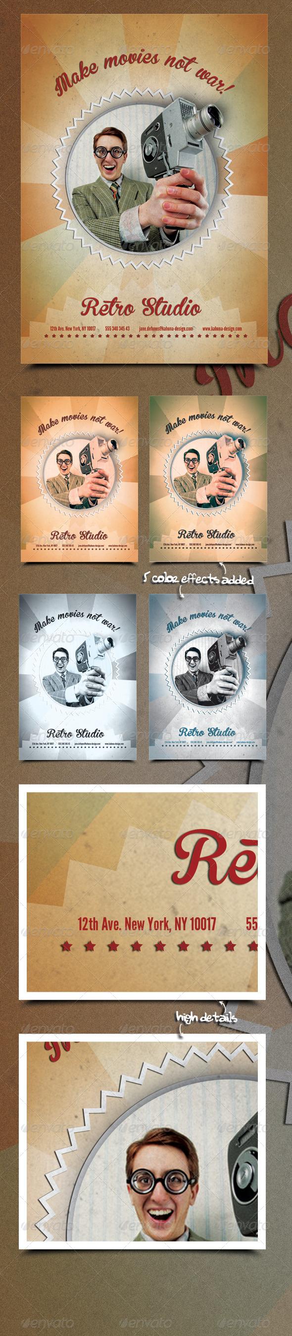 GraphicRiver Retro Studio Flyer Poster 5515257