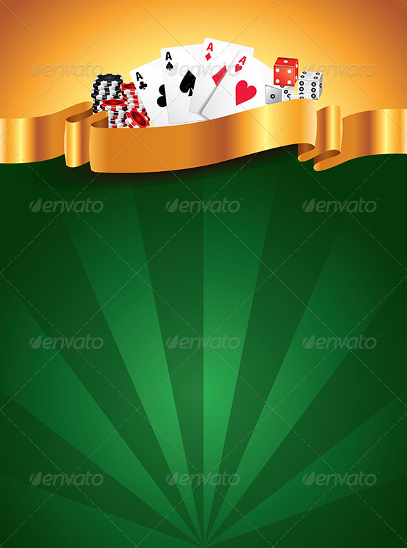 GraphicRiver Casino Green Luxury Vertical Background 5973983