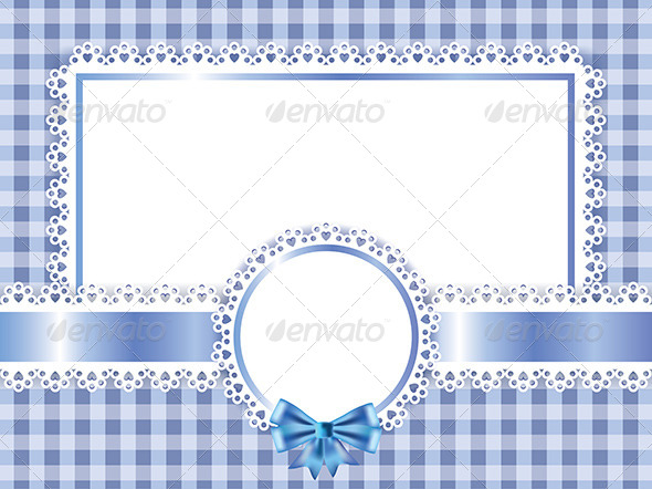 GraphicRiver Children Blue Frame Vector Background 5973994