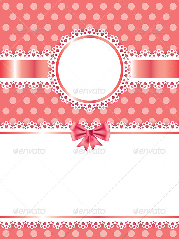 GraphicRiver Children Pink Frame Vector Background 5973996