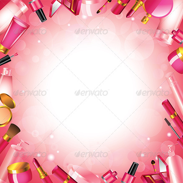 GraphicRiver Cosmetics Frame Vector Background 5974009