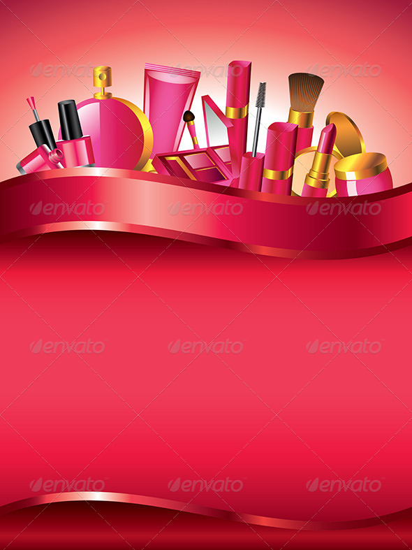 GraphicRiver Cosmetics Vertical Vector Background 5974069
