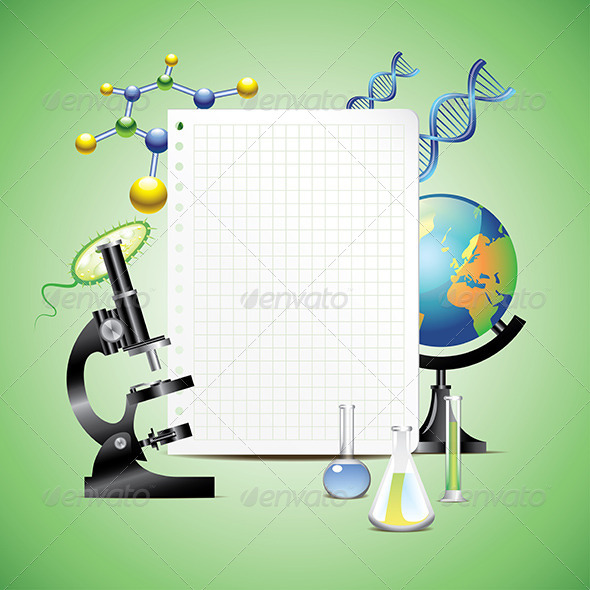 GraphicRiver Scientific Items with Blank Paper 5974594